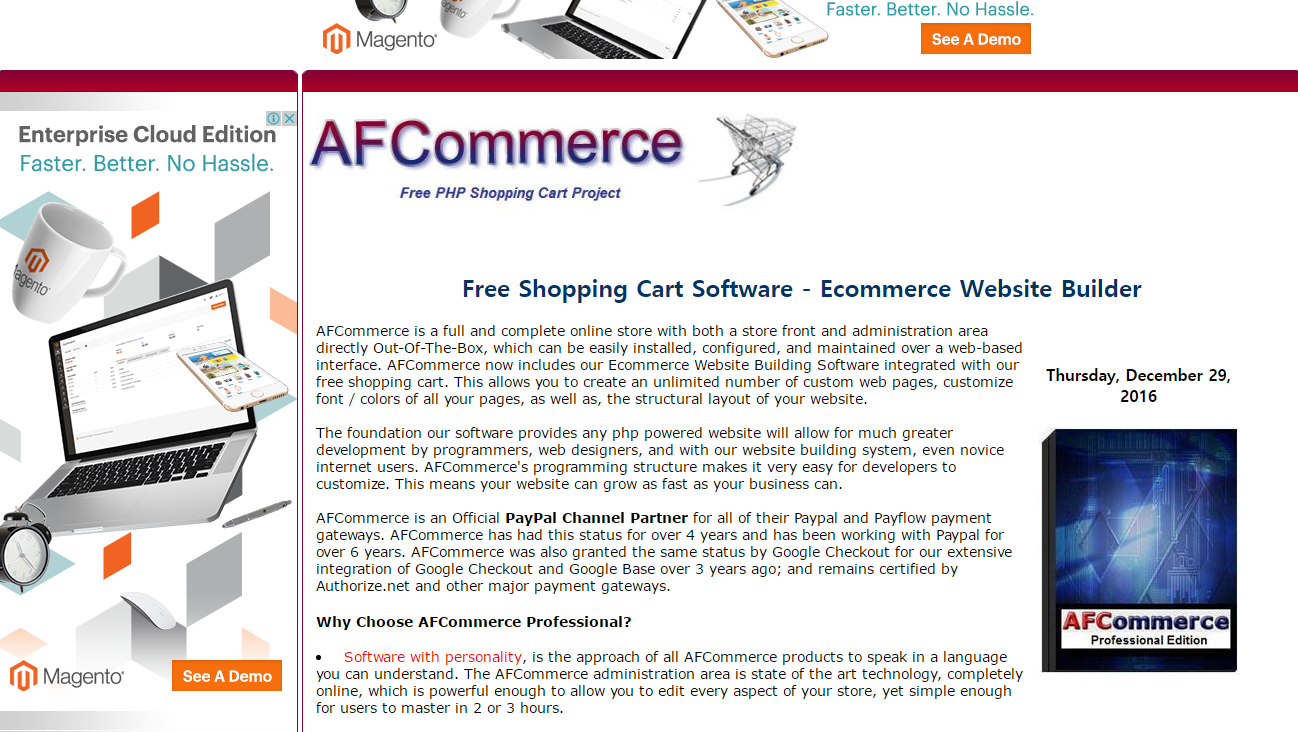 afcommerce e-commerce platform