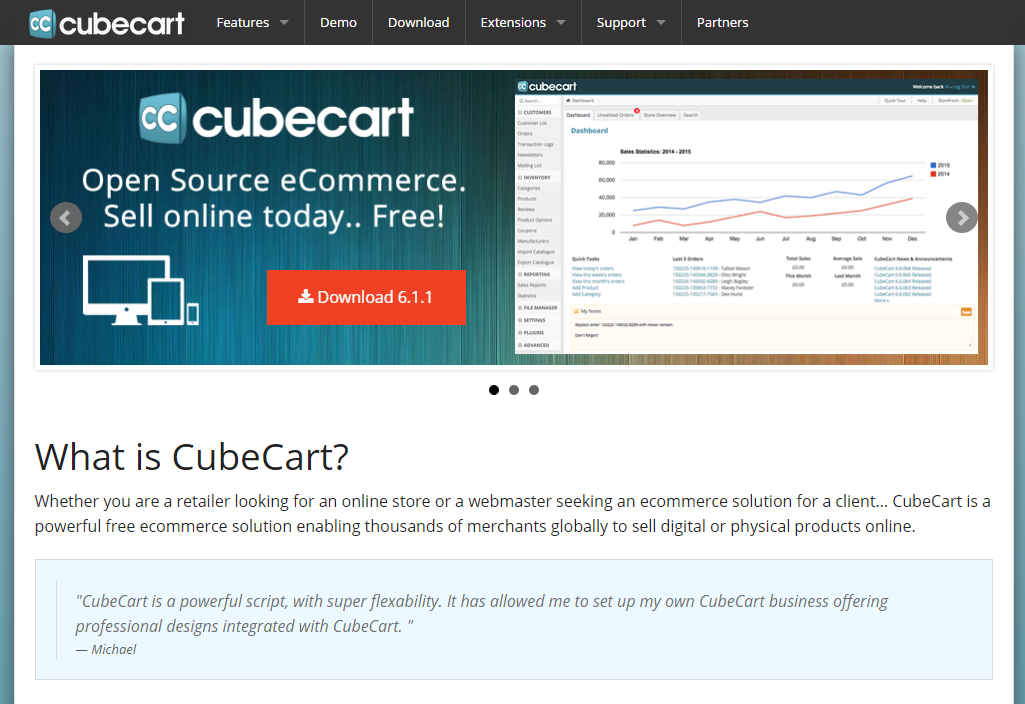 cubecart e-commerce platform
