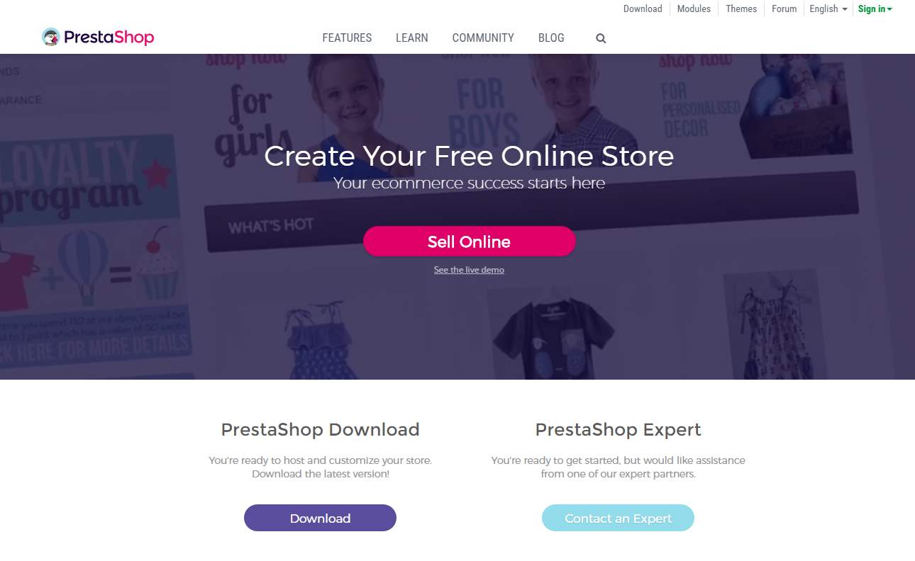 prestashop e-commerce platform