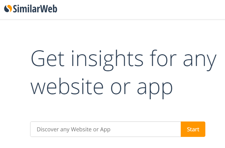 similarweb for competitors' information research